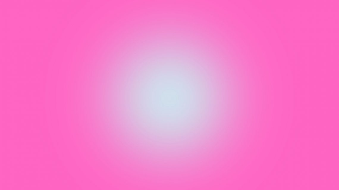 A pink background with a glowing white light in the centre.